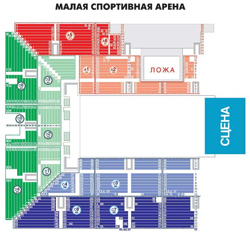 Малая Спортивная Арена ЛУЖНИКИ